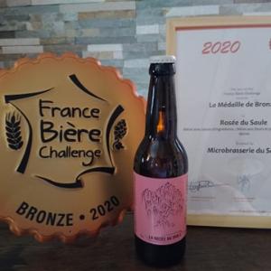 bière blonde à l'hibiscus, médaille de bronze 2020, microbrasserie du saule