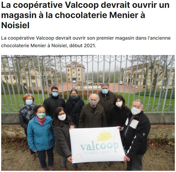La coopérative Valcoop devrait ouvrir un magasin à la chocolaterie Menier à Noisiel.